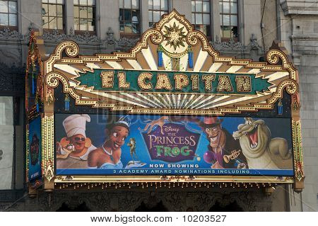 Exterior of the El Capitan Theatre