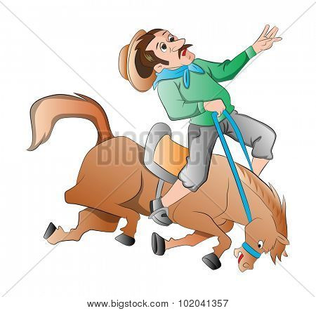 Rodeo, vector illustration