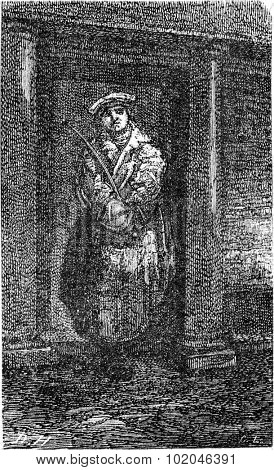 Soldier police, vintage engraved illustration. Le Tour du Monde, Travel Journal, (1865).