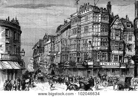 The picturesque Europe. A visit to Bristol, vintage engraved illustration. Journal des Voyage, Travel Journal, (1880-81).