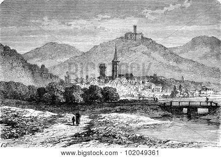 Eisenach, vintage engraved illustration. Le Tour du Monde, Travel Journal, (1872).