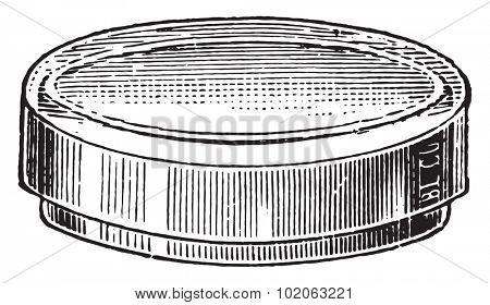 Dish devised, vintage engraved illustration.