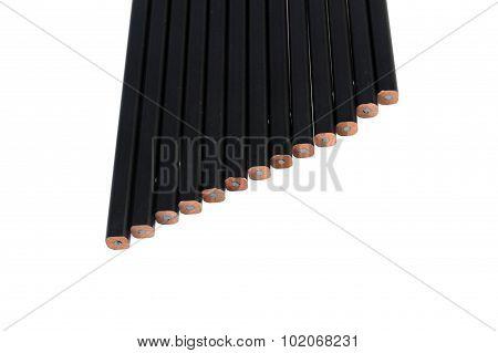 Black Pencil Isolate On White