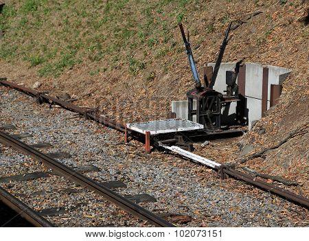 Old railway switch