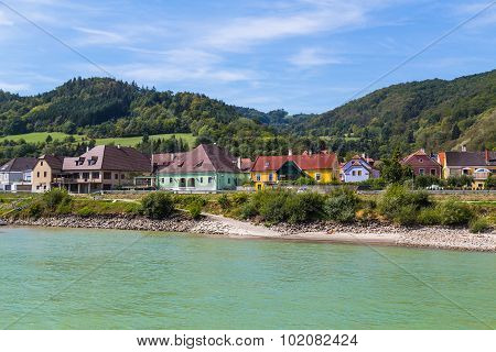 Buildings And Hills In The Wachau Valley, Austria