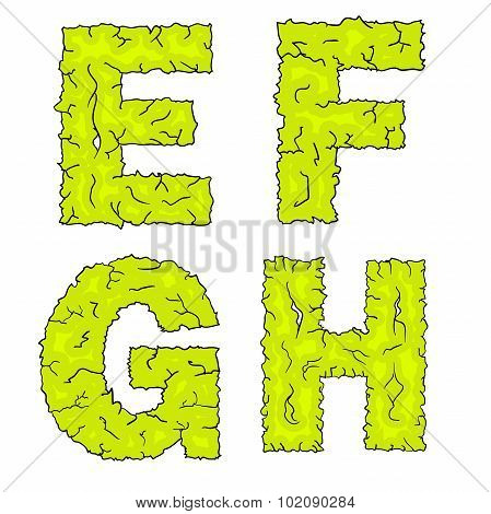 halloween grimy letters efgh