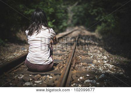 Women On Railroad