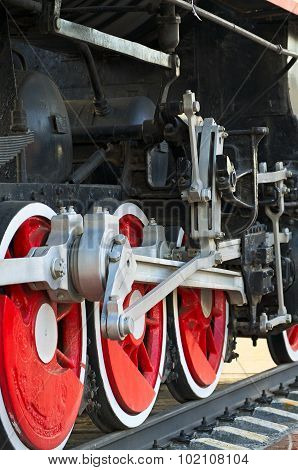 Drive Traction Wheels Of A Steam Locomotive