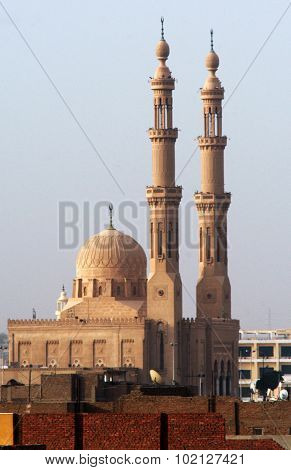 Photo of the Aswan Mosque in Egypt.