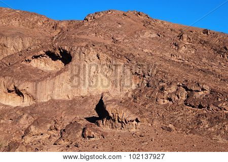 The landscape of Ramon crater - Makhtesh Ramon in the Negev desert in South Israel.