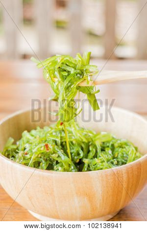 Delicious Fresh Seaweed Spicy Salad