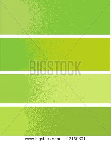 Spray Painted Gradient Detail In Green Yellow