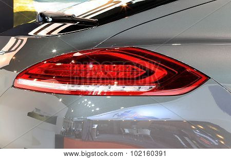 Brake Light Of Porsche Series Panamera Luxury Sport Car
