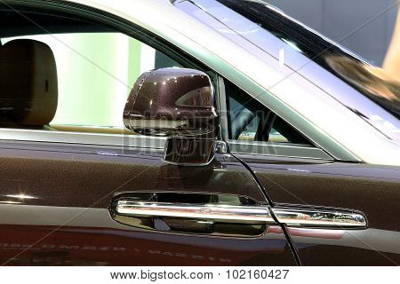 Wing Mirror Of Black Rolls Royce