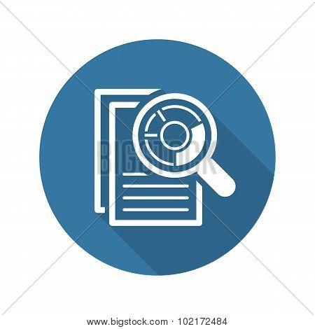 Audit Icon. Business Concept. Flat Design.