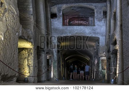 Catacombs Of San Gennaro In Naples, Italy