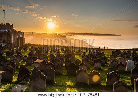 Church Of St Mary Graveyard Sunset