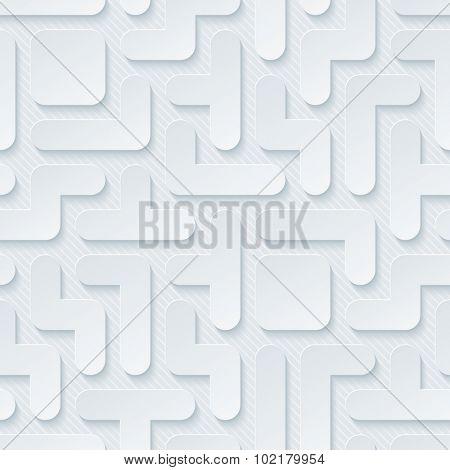Tetris wallpaper. 3d seamless background. Vector EPS10.