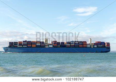 Merchant Ship Side View