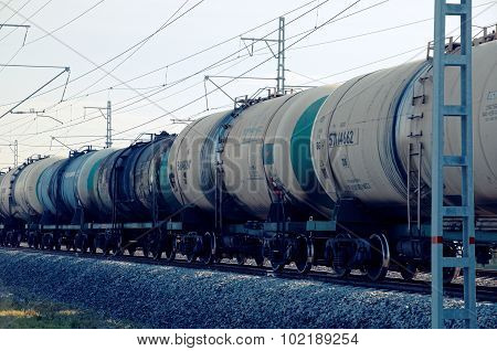 Rolling-stock with oil tanks