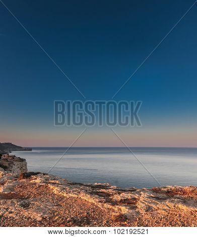 Sunrise At Majjistral Point Malta