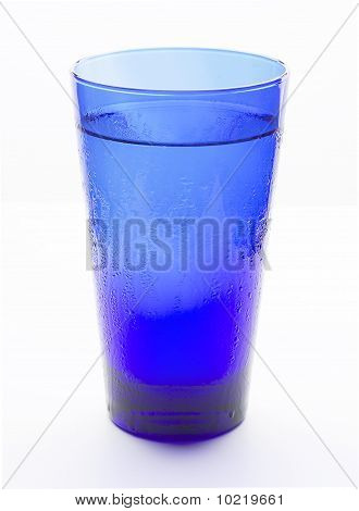 Blue Glass Filled With Water