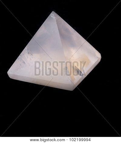 Rose quartz pyramid isolated