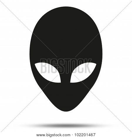 Silhouette symbol of Alien head