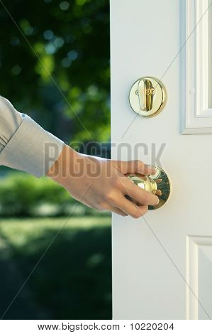 Hand Opening Door