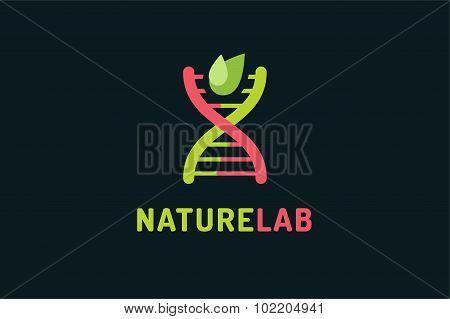 Technology biology DNA vector logo icon