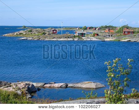 Small Red Archipelago Huts