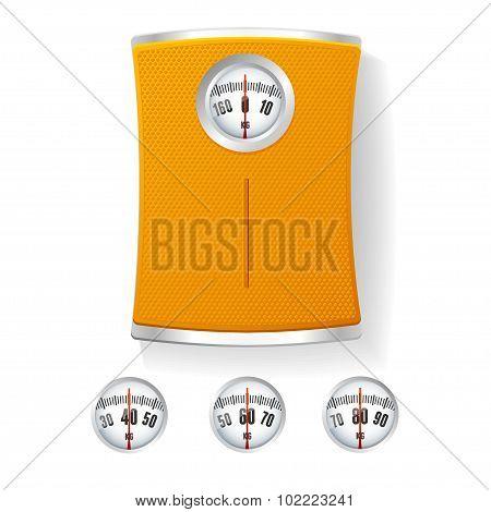 Bathroom Scale. Vector
