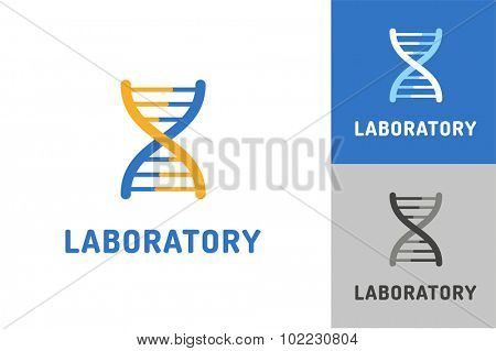 DNA vector logo. Technology biology DNA vector icon. DNA laboratory sign. Symbol of technology DNA chain isolated. DNA abstract silhouette. Laboratory logo icon