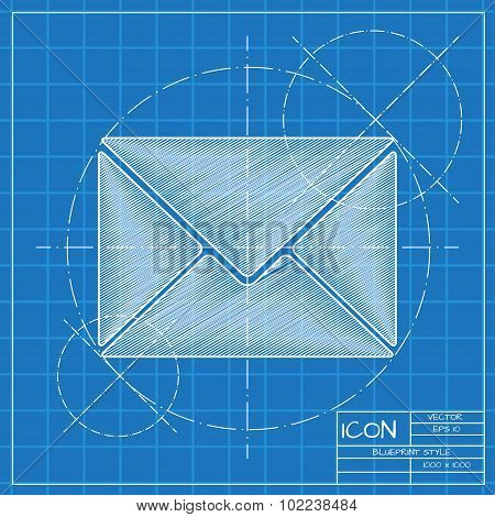 Vector mail icon. Eps10