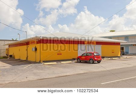 Office Of DHL In George Town Of Grand Cayman Island