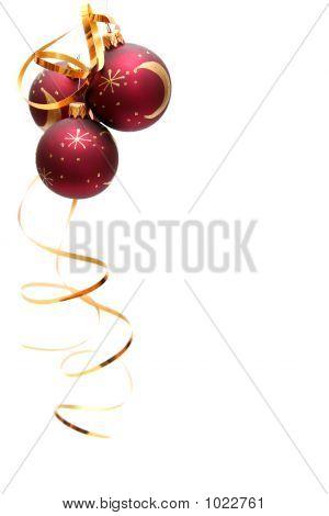 Bulbos de Navidad rojo