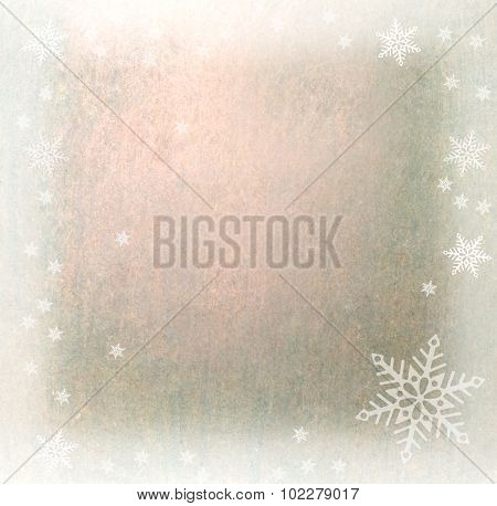 Sparkling Snowy Winter Background With Copy Space