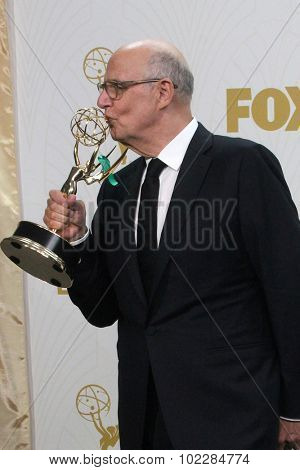 LOS ANGELES - SEP 20:  Jeffrey Tambor at the Primetime Emmy Awards Press Room at the Microsoft Theater on September 20, 2015 in Los Angeles, CA