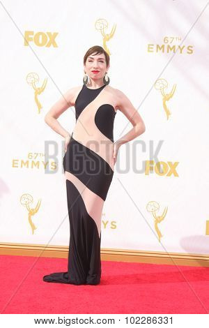 LOS ANGELES - SEP 20:  Naomi Grossman at the Primetime Emmy Awards Arrivals at the Microsoft Theater on September 20, 2015 in Los Angeles, CA