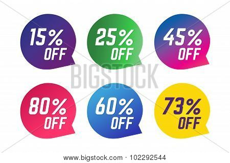 Sale, Off vector tags