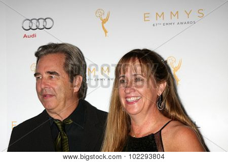 LOS ANGELES - SEP 19:  Beau Bridges, Wendy Bridges at the 67th Emmy Awards Performers Nominee Reception at the Pacific Design Center on September 19, 2015 in West Hollywood, CA