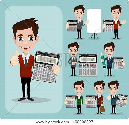 Portrait Of Happy Accountant set