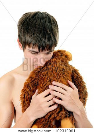 Young Man With Plush Toy