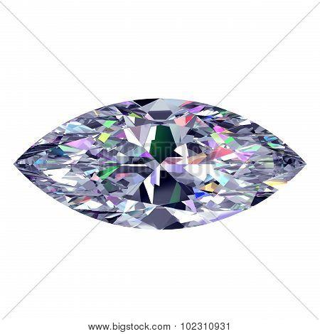 Diamond Marquise. 3D Model.
