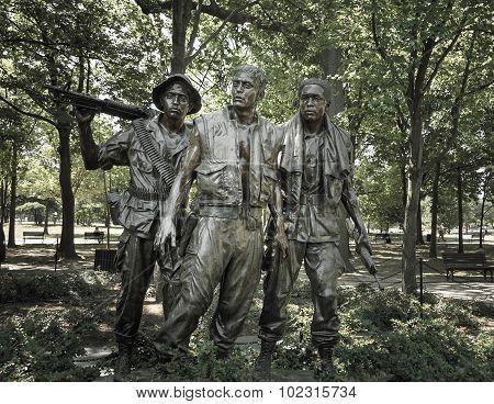 Vietnam War Memorial Statues