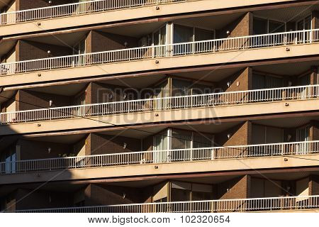 The Decorative balcony background in Barcelona, Spain.