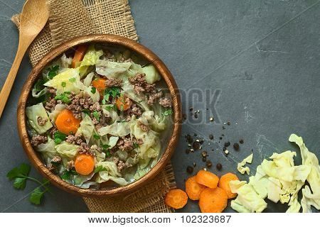 Savoy Cabbage Carrot Potato Mincemeat Stew