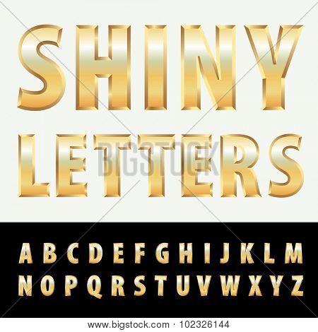 vector golden letters