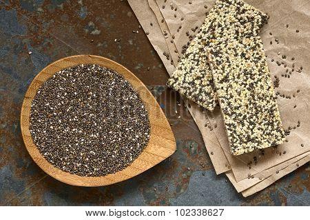 Chia Seeds and Chia Sesame Granola Bars