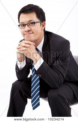 handsome asian businessman